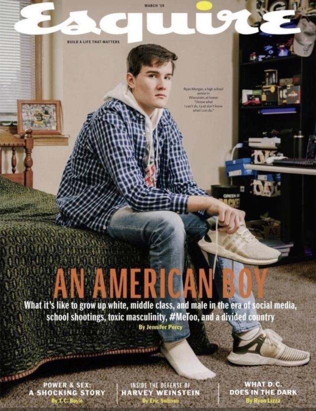 Журнал Esquire опубликовал номер о проблемах «белого гетеросексуального подростка»
