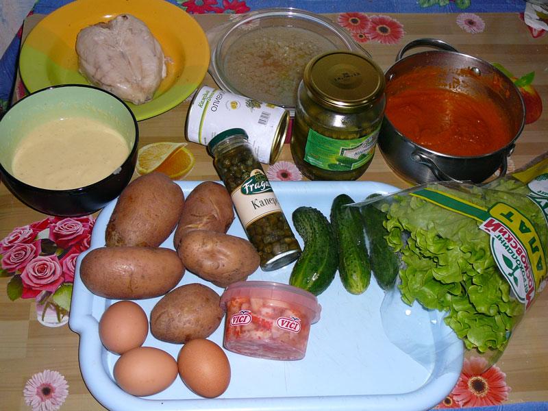 салат оливье по рецепту 1897 года