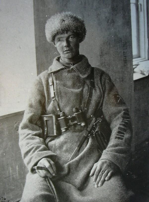 Пулеметчик Антон Близнюк. 1918 год.