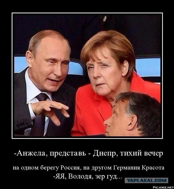О чем говорили Путин и Меркель на футболе