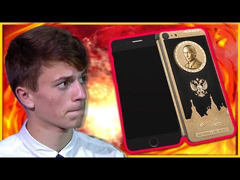 У спросившего Путина о коррупции школьника заберут золотой IPhone