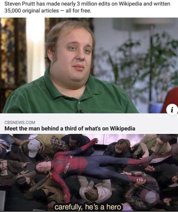 СМИ нашли человека, бесплатно сделавшего три миллиона правок в «Википедии». И теперь воздают ему почести