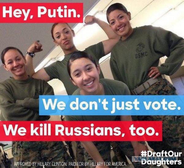 """Феминистки взбесились: """"Эй, Путин. Мы не только голосуем, мы еще убиваем русских"""""""
