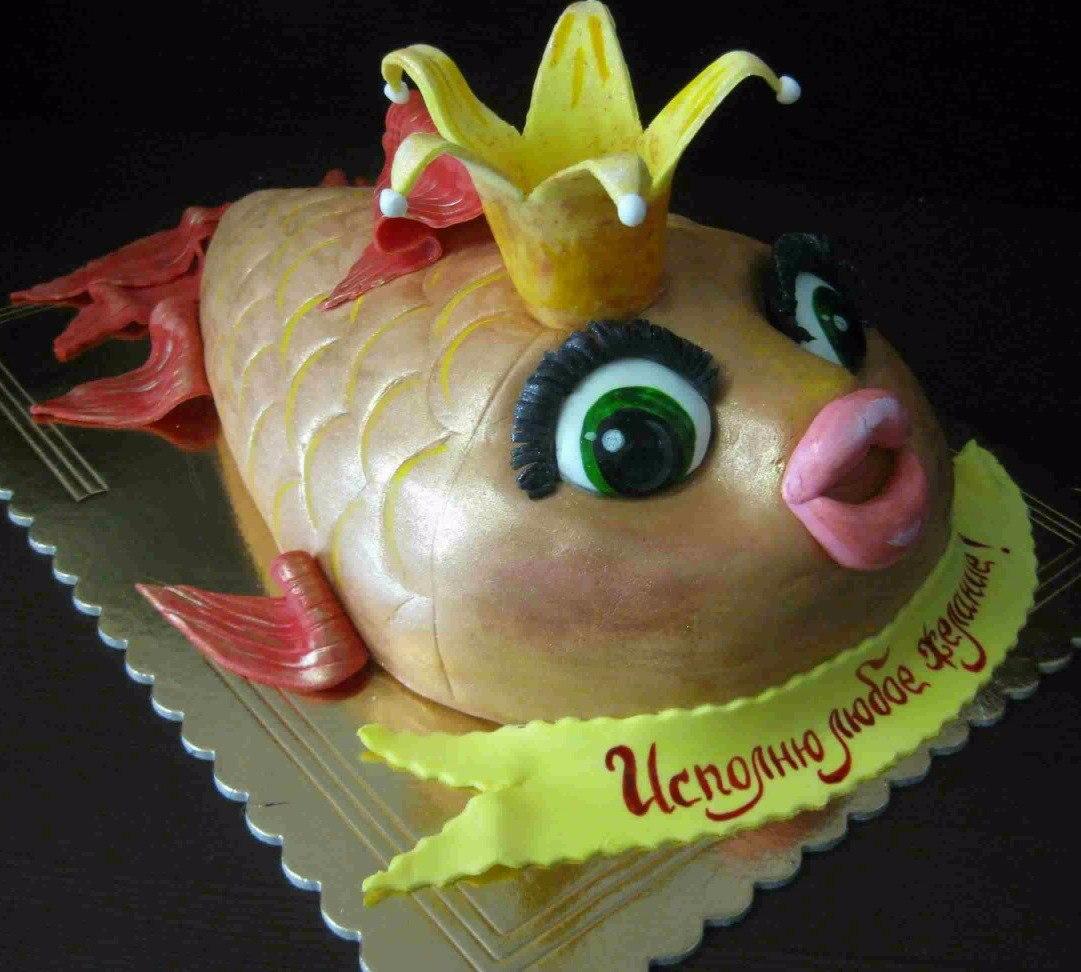 торт мужу рыбаку на день рождения