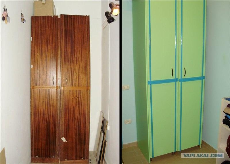 Как обновить полированный шкаф своими руками самые интересны.