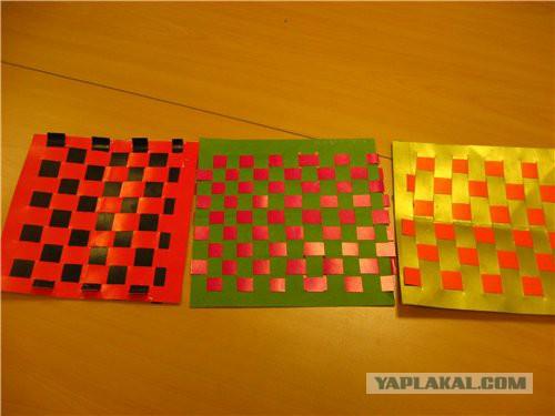 плетенка из цветной бумаги