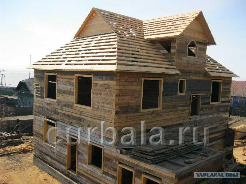 Строительство дома из шпал своими руками