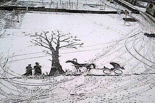 Рисунки на снегу