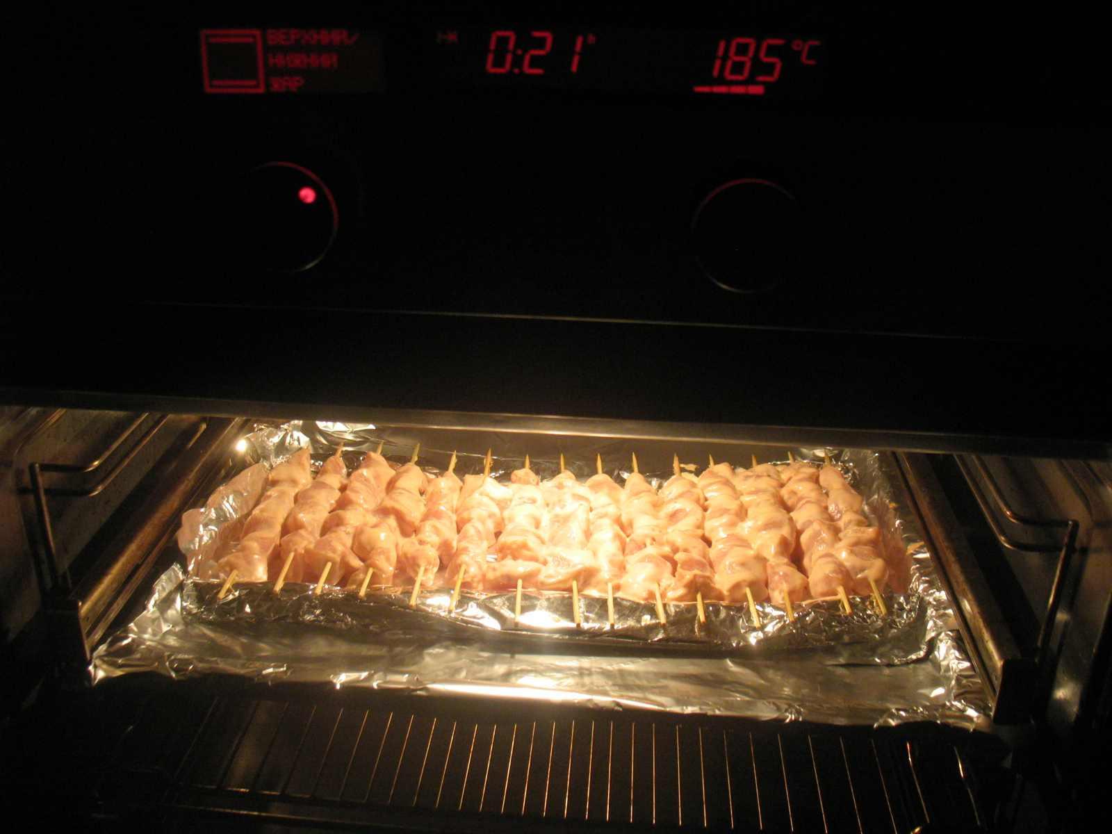 Шашлык куриный в духовке без шпажек рецепт с пошагово в