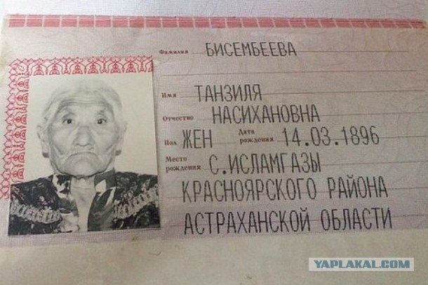 Жительницу Астраханской области признали самым пожилым человеком на планете