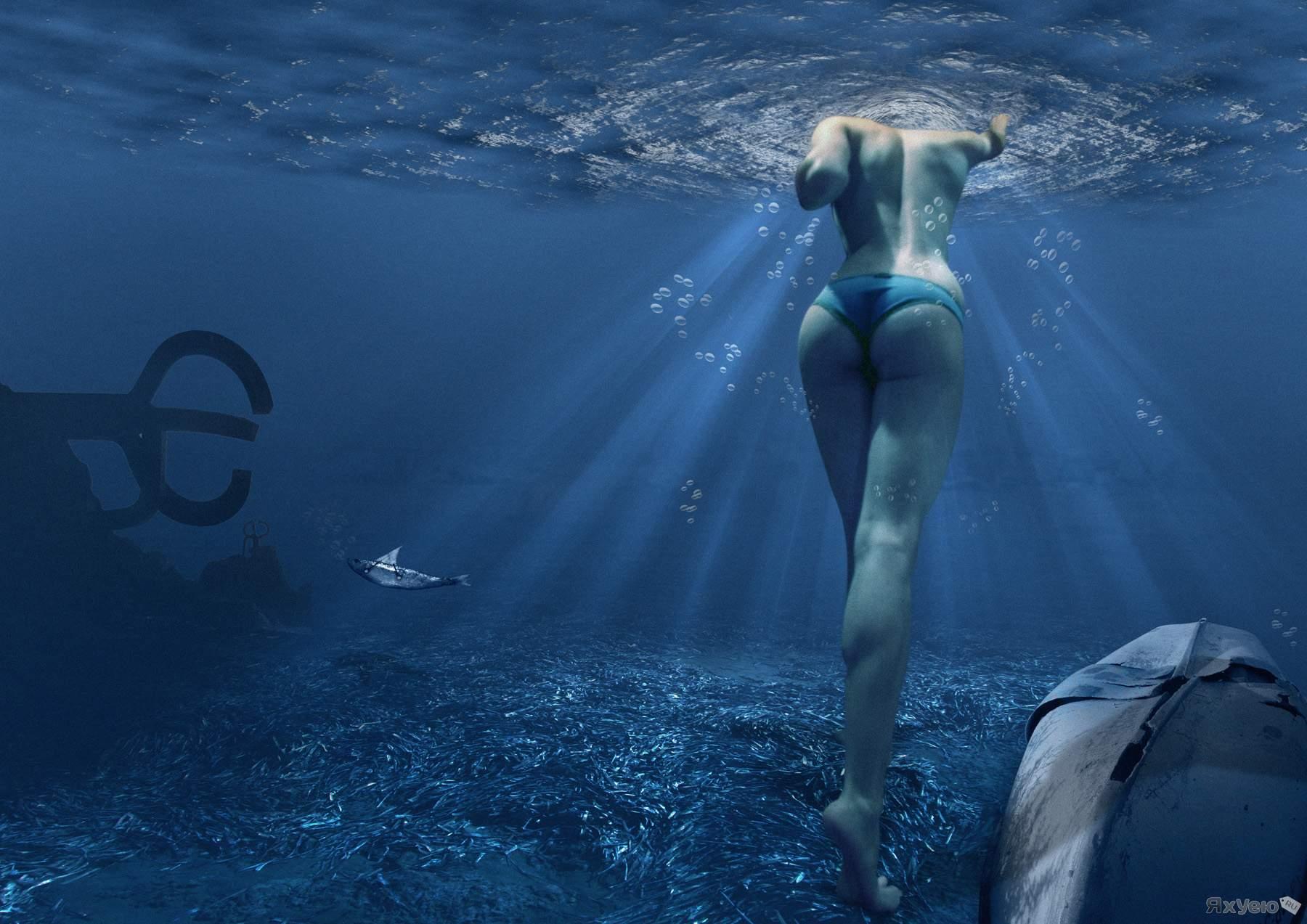 частные фото девушек в купальниках под водой