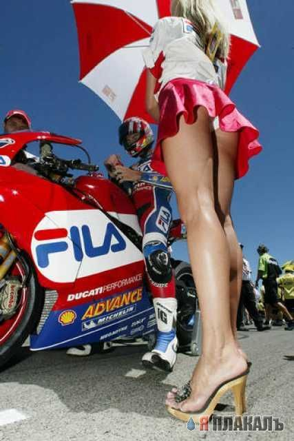 Девушки, украшающие гонки