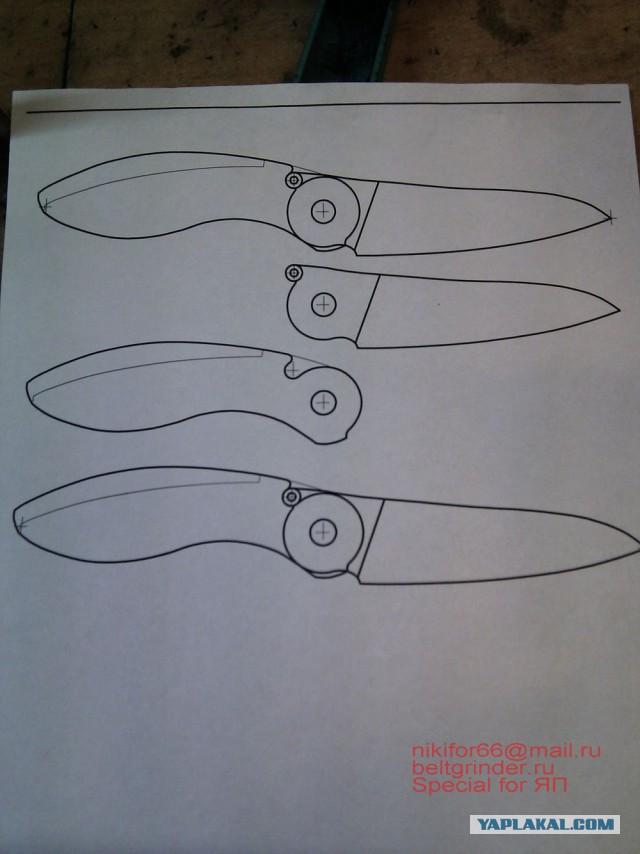 Складные ножи своими руками чертежи
