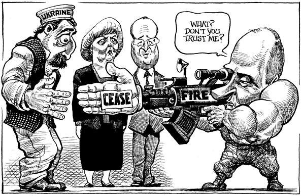 Карикатурист перепутал Порошенко и Лукашенко