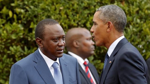 Ухуру Кениатой послал Барака Обаму