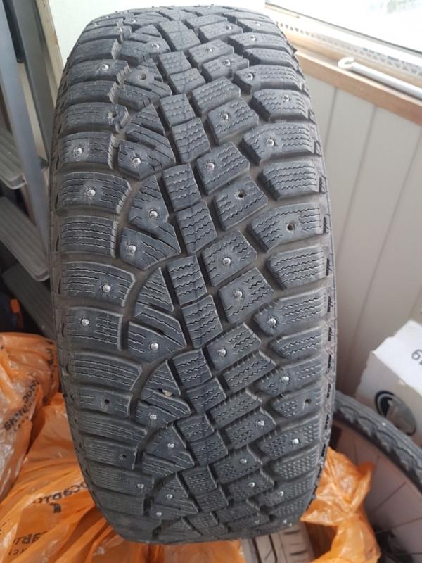 [МСК] Продам одну шипованную шину Continental IceContact 2 205/55 R16 T XL