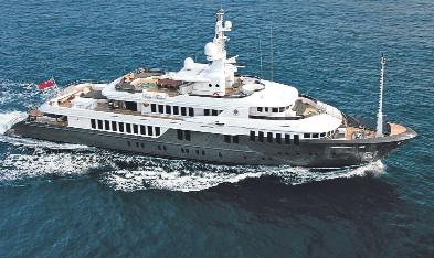 Россия за 30 млн евро купила яхту для Медведева