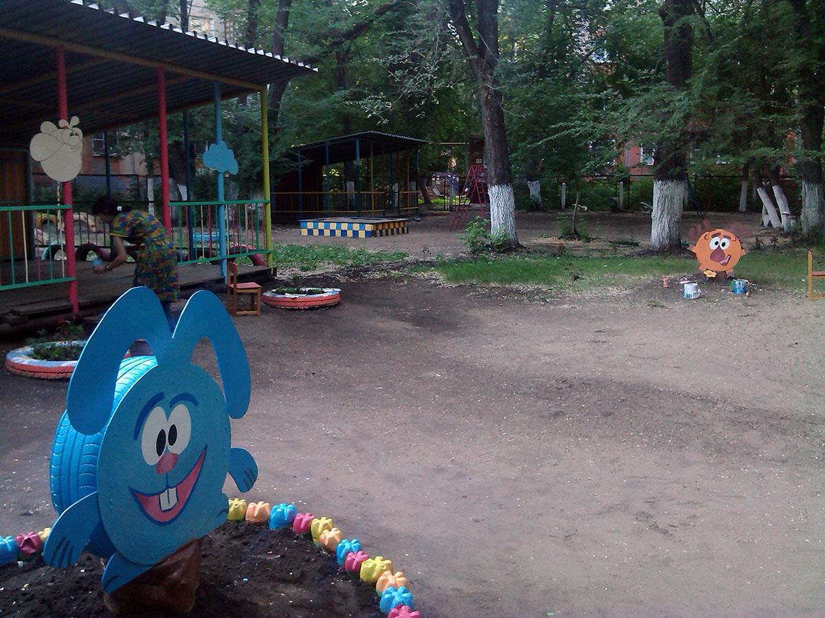 Украшение детская площадка в детском саду своими руками фото