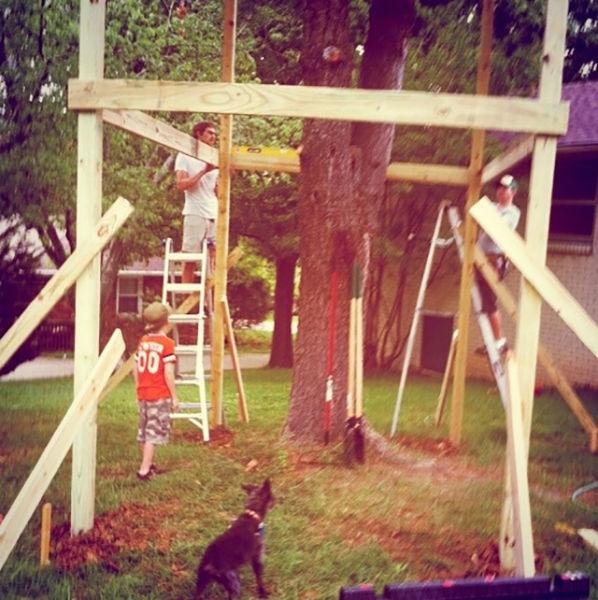 Дом, построенный вокруг дерева