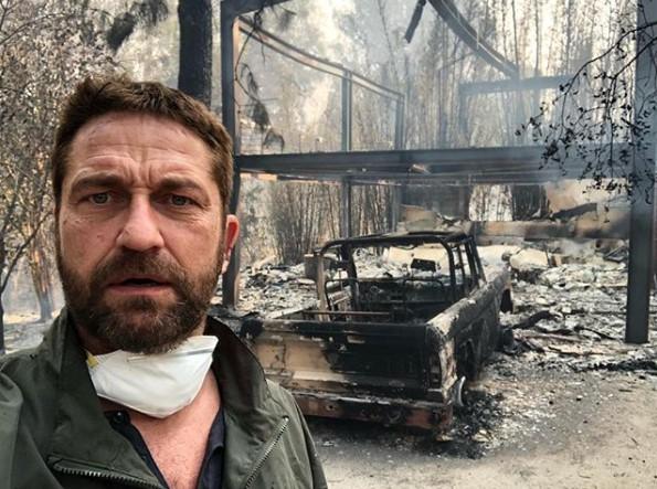 У актера Джерарда Батлера сгорел дом