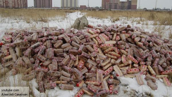 В Рязани обнаружили свалку хлеба из «Магнита»