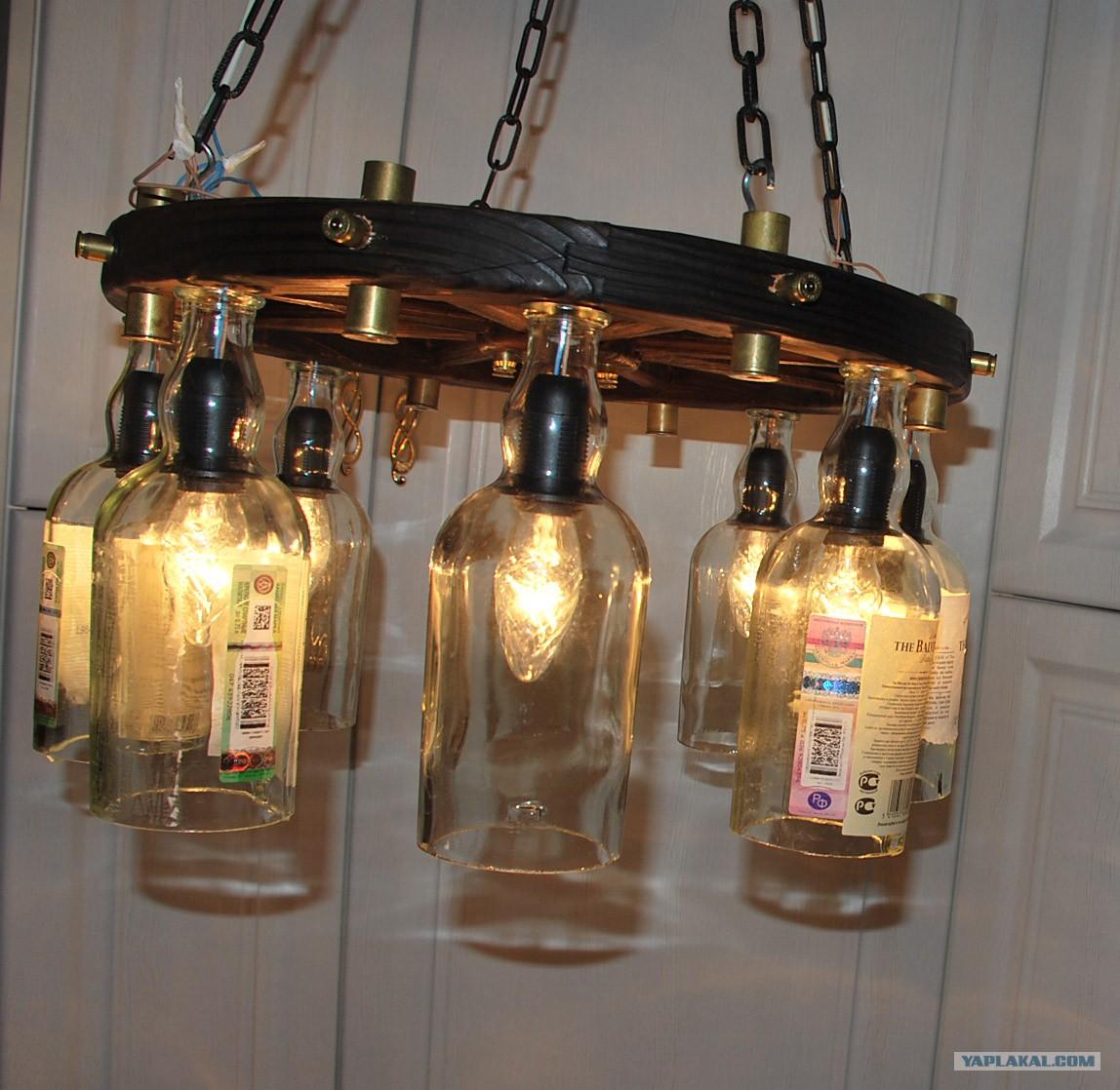 Бутылки светильники своими руками 74