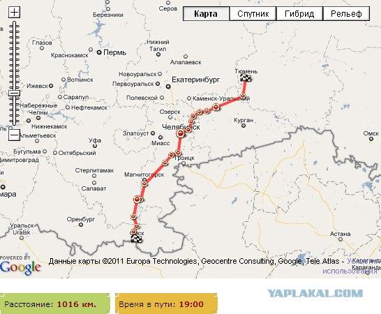 Путешествие на Южный Урал