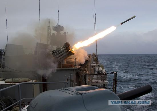 Флот РФ во время учений у берегов Сирии