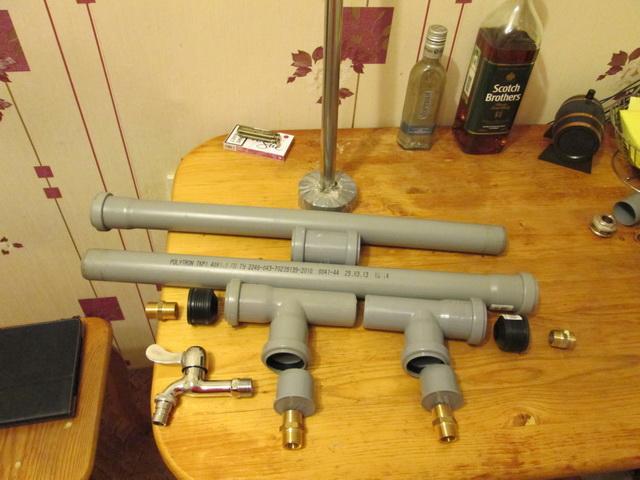Самогонный аппарат из пластиковой трубы