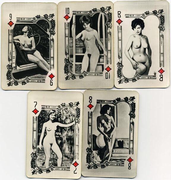 Самиздатовские советские эротические карты.