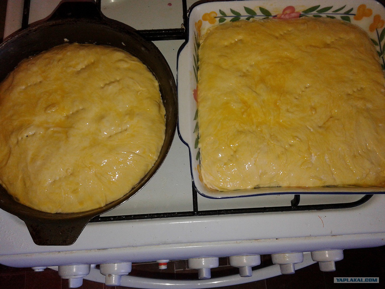 Заливной пирог на молоке с капустой рецепт