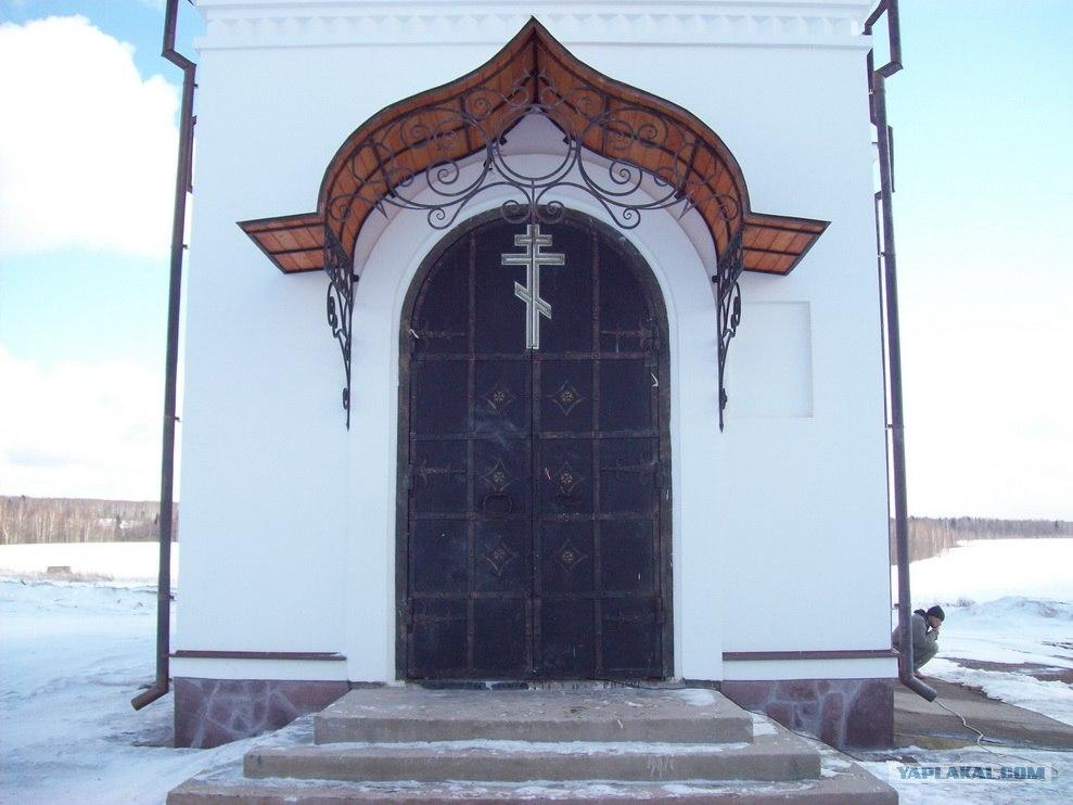 изготовление входных ворот для церкви