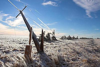 Ледяной шторм в Неваде
