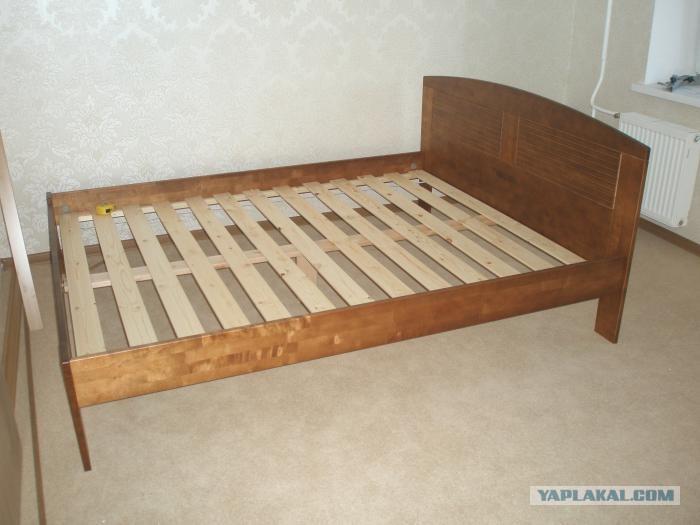 Кровать из реек