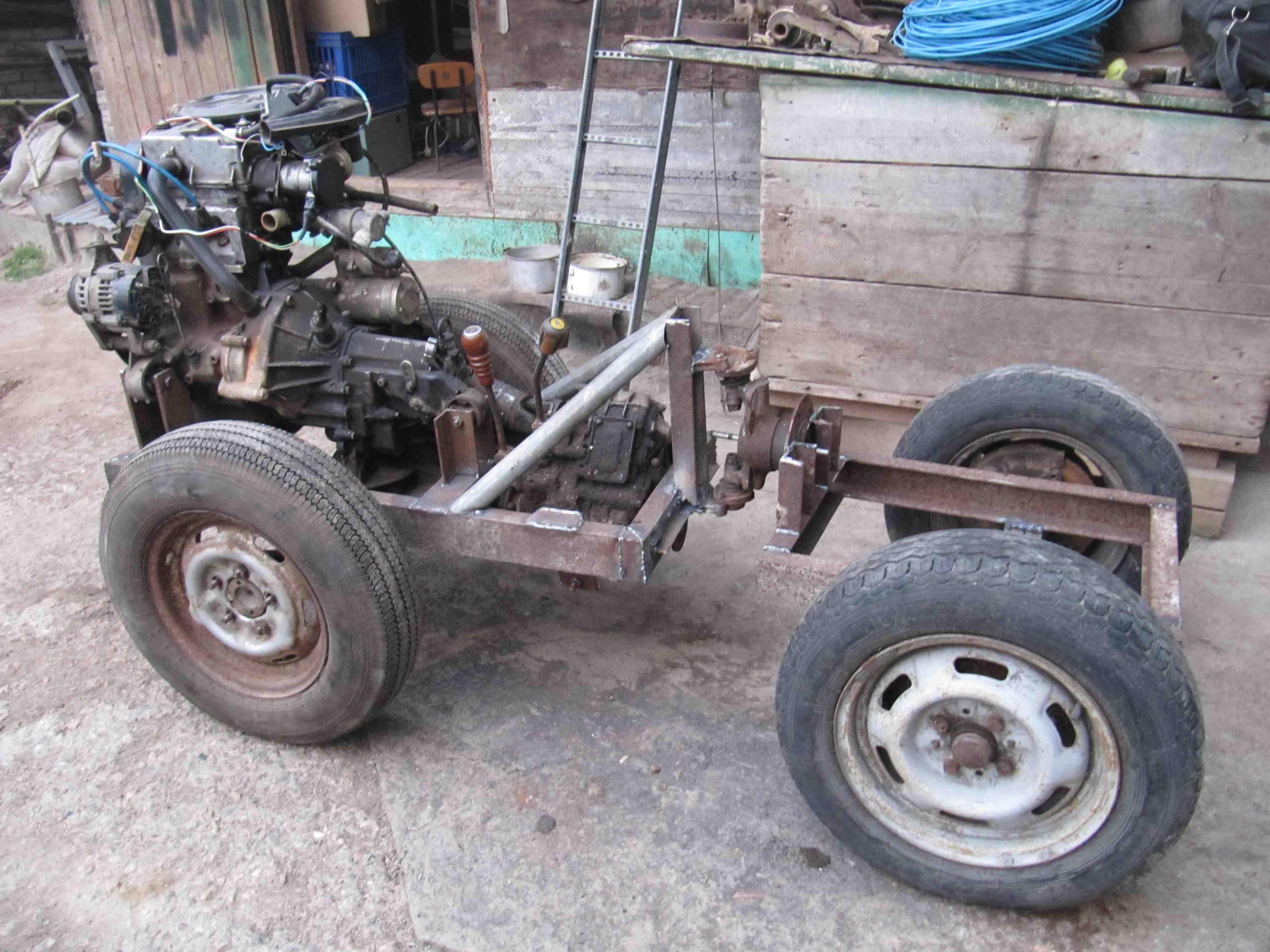 Как сделать самому самодельный трактор фото