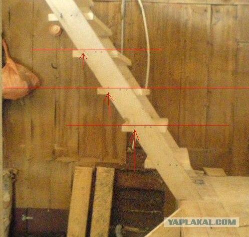 Как сделать лестницу из подручного материала 725