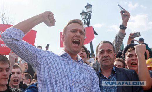 Навального задержали сразу после освобождения из-под ареста