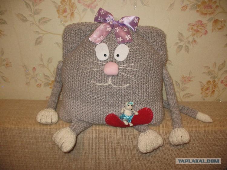 Бисером Вязание спицами подушек-игрушек