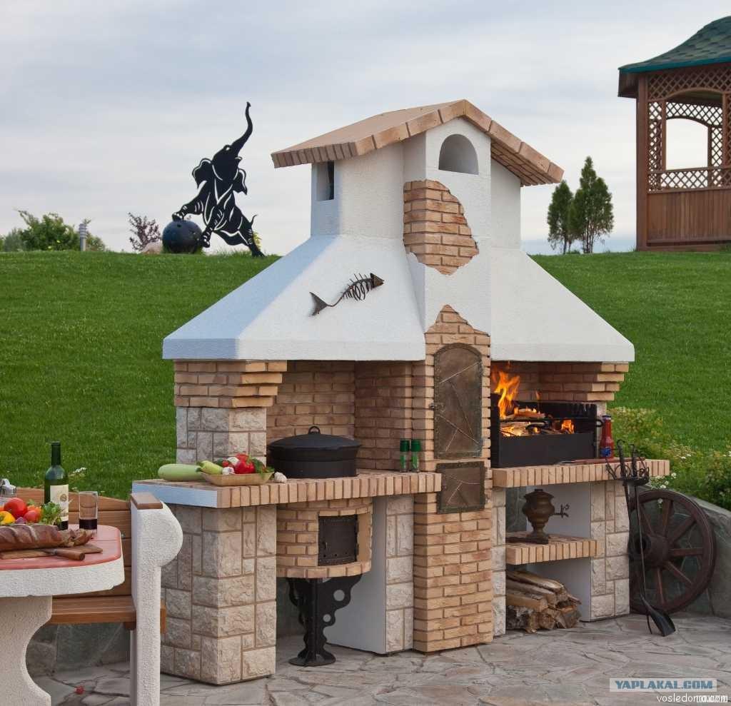 Гриль барбекю на даче