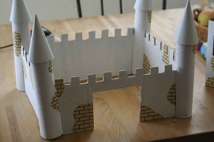 Замок из бумаги для детей