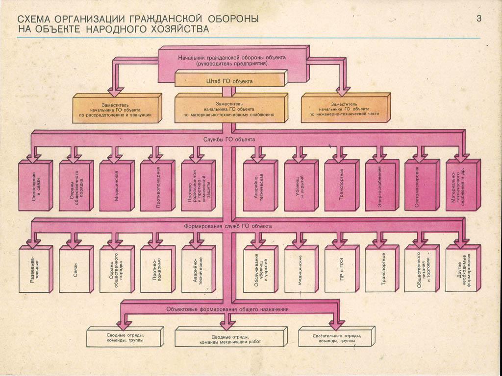 примерная структура организации го в оу схема