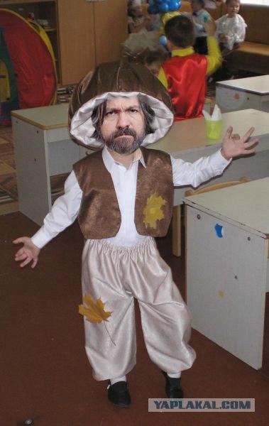 Как сделать костюм гриба осени