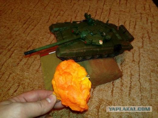 Т-90А. Моя первая диорама. Отдаю на суд ЯПа!