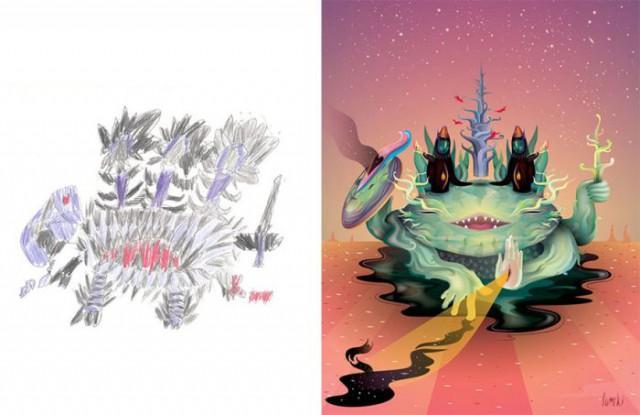 The Monster Project: монстры из детских фантазий, нарисованные профессиональными художниками