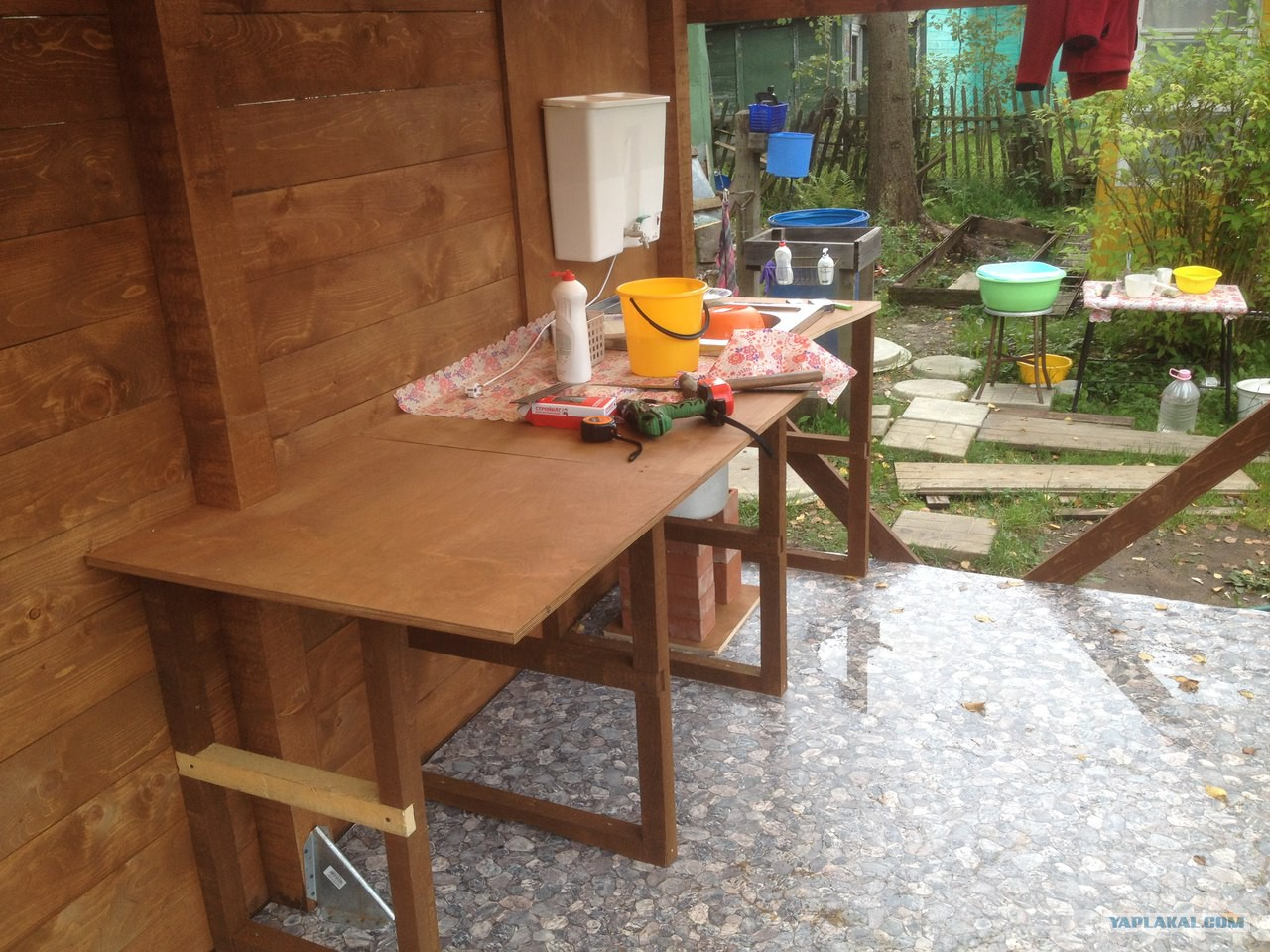 Из чего построить летнюю кухню на даче своими руками фото