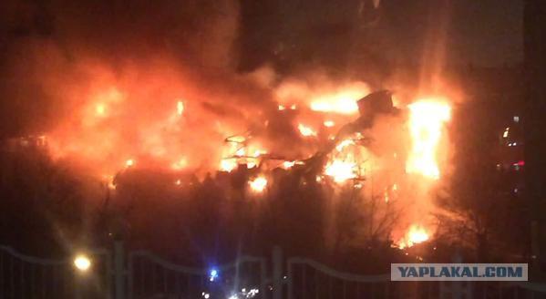 В Москве горит здание библиотеки ИНИОН