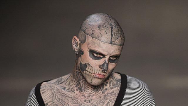 Тату-модель Zombie Boy из клипа Леди Гага покончил с собой