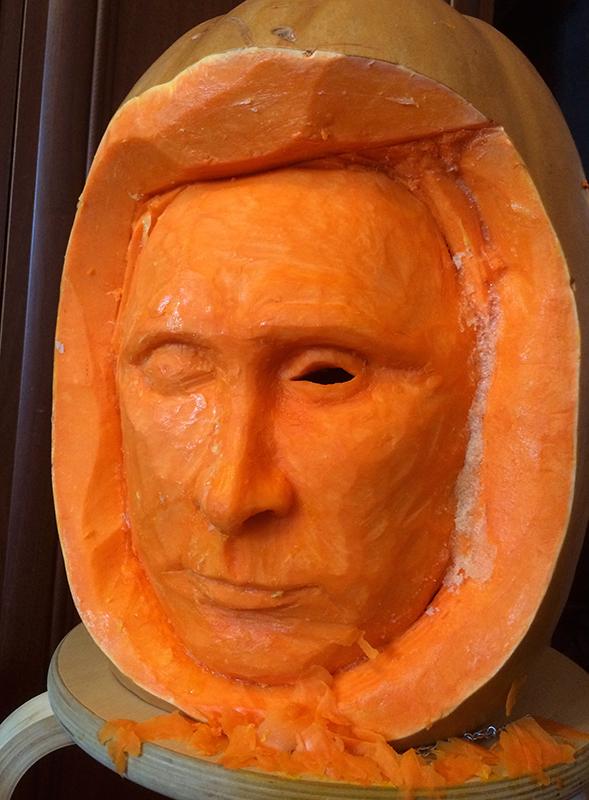 Моя тыква на хеллоуин в этом году