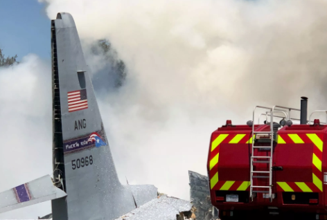 В штате Джорджия разбился военный самолёт C-130 Hercules