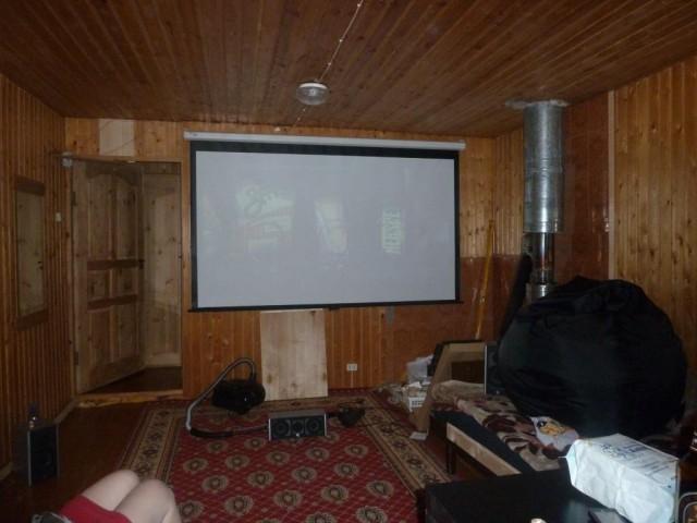 Реконструкция домашнего кинотеатра на даче.